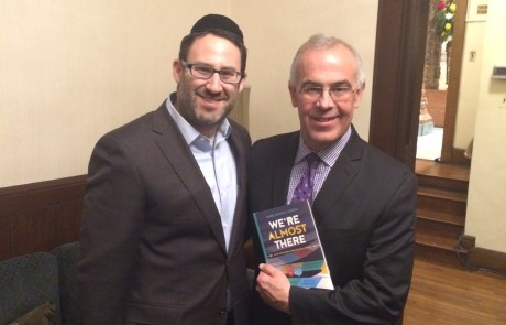 Rabbi Cohen with David Brooks at UJA event